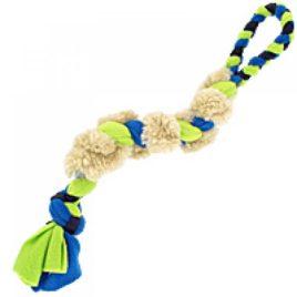 Pletena igrača za vlečenje z ovčjim krznom